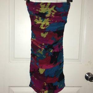 Dresses & Skirts - 💋🔥 NWOT Vibrant Ruched Mini 🔥💋